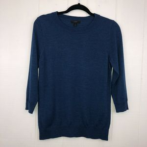 J Crew Merino Wool Tippi Sweater Blue S